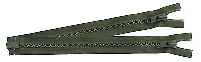 Pair of Green YKK PLCE Side Pouch / Bergen Zips - to use on Rucksack or Pouch