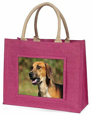 Foxhound Dog Large Pink Shopping Bag Christmas Present Idea, AD-FH1BLP