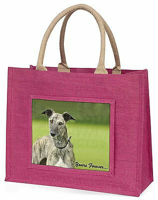 Greyhound Dog 'Yours Forever' Large Pink Shopping Bag Christmas Pres, AD-LU7yBLP