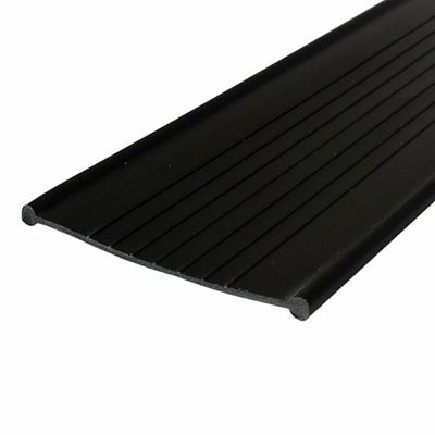 Garage Door Weather Seal - Bottom Seal Bead Type - Black Vinyl - 4""