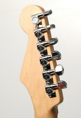 Hipshot CHROME 6-In-Line Non-Staggered Closed-Gear Guitar Machines Tuners w/ UMP