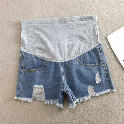 New Fashion Maternity Jeans Shorts Denim Casual Pants for Pregnant Women