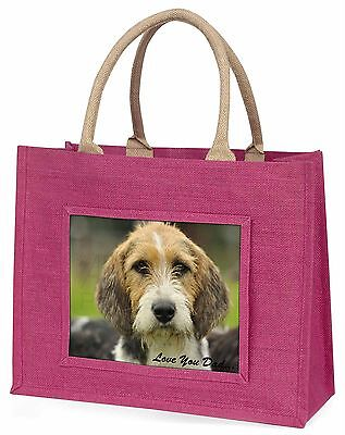 Fox Hound 'Love You Dad' Large Pink Shopping Bag Christmas Present Id, DAD-30BLP