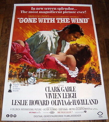 GONE WiTH THE WiND Vivien Leigh Clark Gable eYe NL ONE SHEET POSTER reissue