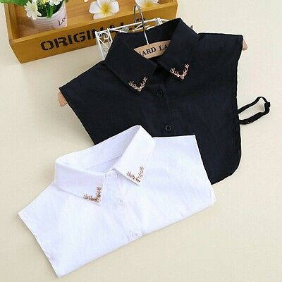 New Female Shirt False Collar Detachable Fake Deer Embellished Turn-Down Collars