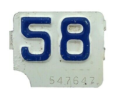 Connecticut 1958 License Plate Year Tab!