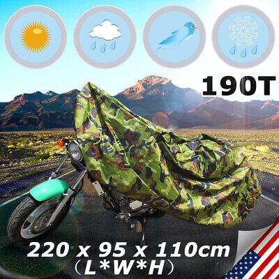 190T Motorcycle Motor Bike Scooter Waterproof UV Dust Protector Rain Cover L