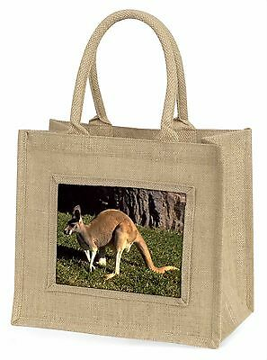 Kangaroo Large Natural Jute Shopping Bag Christmas Gift Idea, AK-2BLN