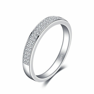 JewelryPalace Women's Wedding Band Ring Cubic Zirconia 925 Sterling Silver SOLD