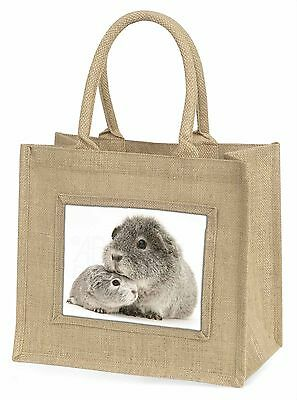 Two Silver Guinea Pigs Photo Slate Christmas Gift Ornament GIN-3SL