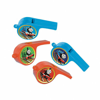 4 x THOMAS TANK ENGINE Whistles Loot Fillers Party Favours Childrens Birthday