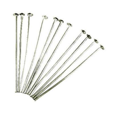 Packet of 125+ Antique Silver Plated Iron 0.7 x 70mm Head Pins HA11455