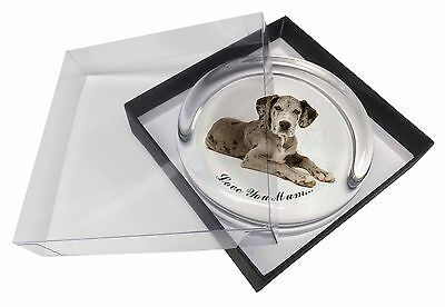 Great Dane 'Love You Mum' Glass Paperweight in Gift Box Christmas P, AD-GD2lymPW