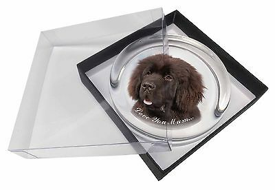 Newfoundland Dog 'Love You Mum' Glass Paperweight in Gift Box Chris, AD-NF3lymPW