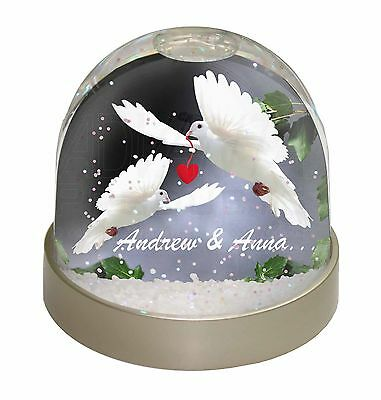 Doves Personalised Valentines Day Gift Photo Snow Dome Waterball Stocki, AB-D7GL
