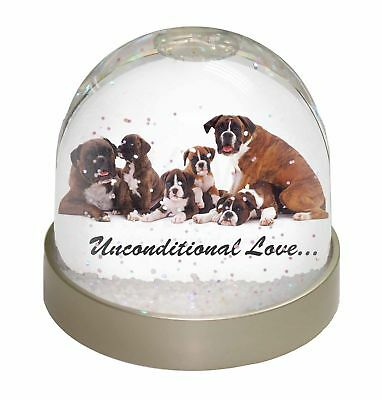 Boxer Dog-Love Photo Snow Dome Waterball Stocking Filler Gift, AD-B25uGL
