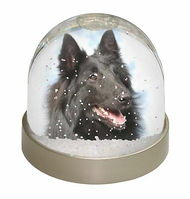 Black Belgian Shepherd Dog Photo Snow Dome Waterball Stocking Filler G, AD-BS3GL