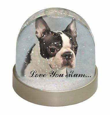 Boston Terrier Dog 'Love You Mum' Photo Snow Dome Waterball Stockin, AD-BT8lymGL