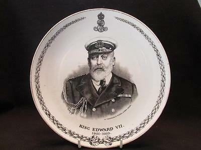 Edward VII Memorial Plate 1910 Allertons England Permission of Russell & Sons