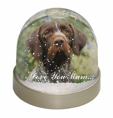 German Wirehaired Pointer 'Love You Mum' Photo Snow Dome Waterball, AD-GWP1lymGL