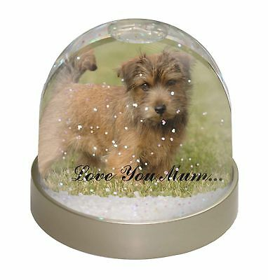 Norfolk Norwich Terrier 'Love You Mum' Photo Snow Dome Waterball St, AD-NT1lymGL