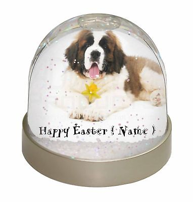 Personalised Name St Bernard Photo Snow Dome Waterball Stocking Fi, AD-SBE5DA2GL