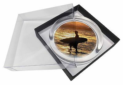 Sunset Surf Glass Paperweight in Gift Box Christmas Present, SPO-S2PW