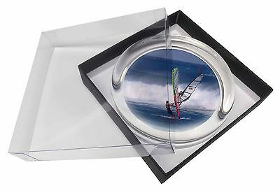 Wind Surfers Surfing Glass Paperweight in Gift Box Christmas Present, SPO-WS3PW