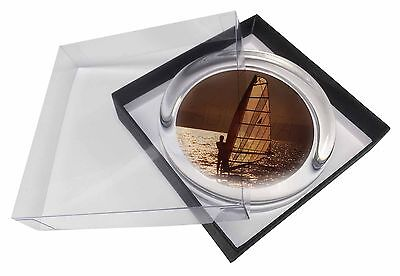 Wind Surfing Glass Paperweight in Gift Box Christmas Present, SPO-WS4PW