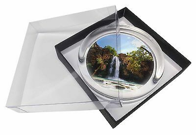 Waterfall Glass Paperweight in Gift Box Christmas Present, W-1PW