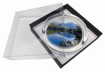 Tranquil Lake Glass Paperweight in Gift Box Christmas Present, W-2PW