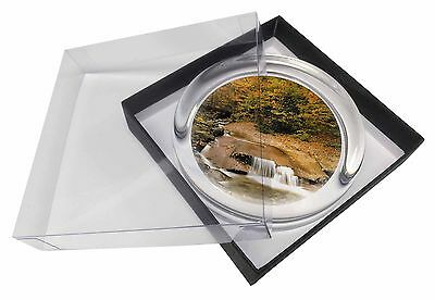 Autumn Waterfall Glass Paperweight in Gift Box Christmas Present, W-4PW