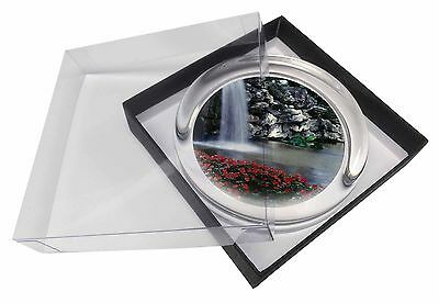 Tranquil Waterfall Glass Paperweight in Gift Box Christmas Present, W-5PW