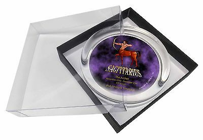 Sagittarius Star Sign of the Zodiac Glass Paperweight in Gift Box Chris, ZOD-9PW