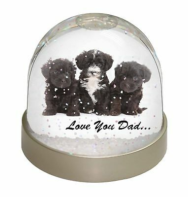 Yorkipoo Pups 'Love You Dad' Photo Snow Dome Waterball Stocking Fille, DAD-139GL