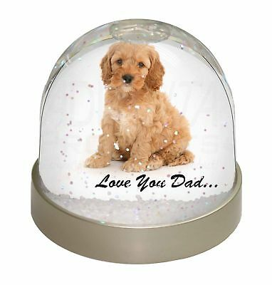 Cockerpoodle 'Love You Dad' Photo Snow Dome Waterball Stocking Filler , DAD-19GL