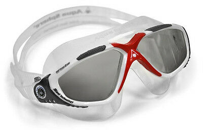 Aqua Sphere Tinted - Red Vista Mens Swimming Mask / Goggle Open Water Goggles