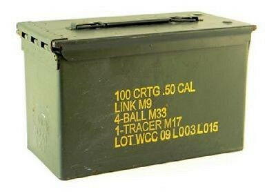 US Army GI Issue Metall Munitionskiste Kiste AMMO BOX STEEL M2A1 CAL.50