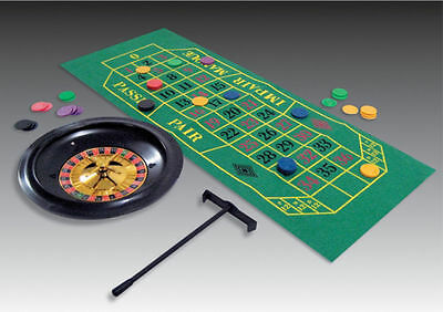 Casino Roulette Wheel Game including chips, cloth & wheel Casino Night Party