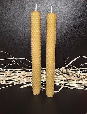 4 Pcs Beeswax  Hand Rolled Candles