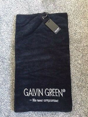 """GALVIN GREEN WAVE 2016 GOLF TOWEL Size 20"""" x 32"""" Colour BLACK NEW"""