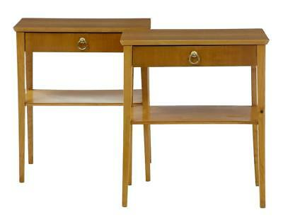PAIR OF 1960's BIRCH BEDSIDE SIDE TABLES