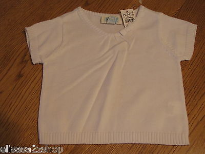 The Children's Place girls 18M 18 months T shirt White Sweater 08528415 NWT ^^