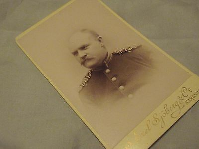 Swedish Antique WW1 Picture Military Army Infantry officer Kronoberg Sweden