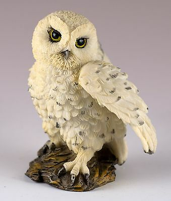 "Mini Snowy Owl Figurine By Veronese Design 2 3/8"" High Resin New In Box!"