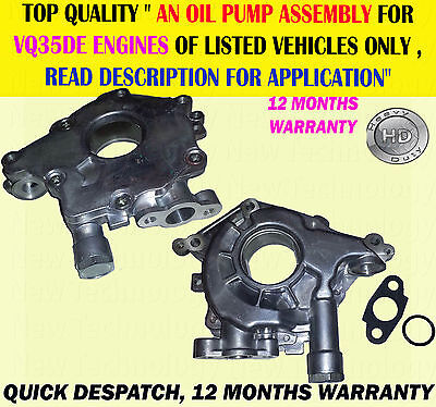 Engine Oil Pump Assembly Fits 350Z Fairlady3.5 Z33 02-12 Murano 3.5 V6 Vq35De