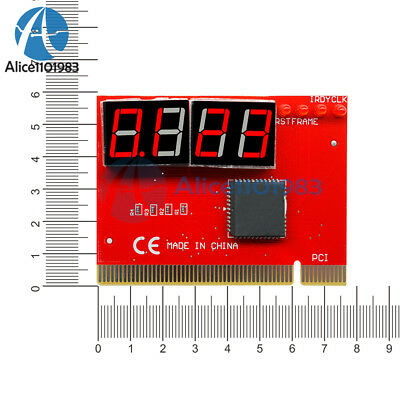 LED 4  Analysis Diagnostic Tester POST Card PCI PC Analyzer Motherboard Digital