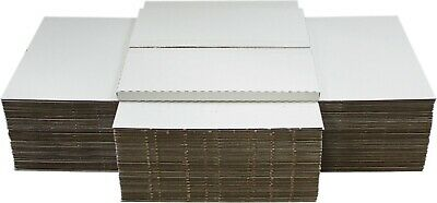 "(50) 12"" White Record Shipping Boxes Mailers Holds 1-3 Vinyl LP 33RPM 12BC01VDWH"
