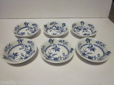 6 Vintage Barker Bros Ironstone Cathay Pattern Fruit Bowls