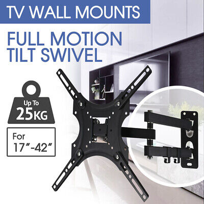 Tilt Swivel VESA LCD LED TV Monitor Wall Mount Bracket 26 32 40 50 55 inch AU